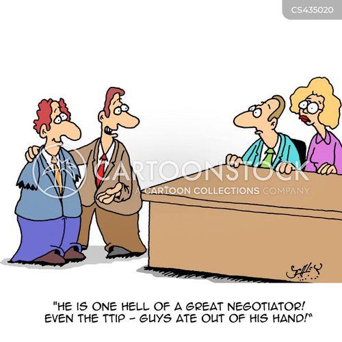 negotiating tables cartoon