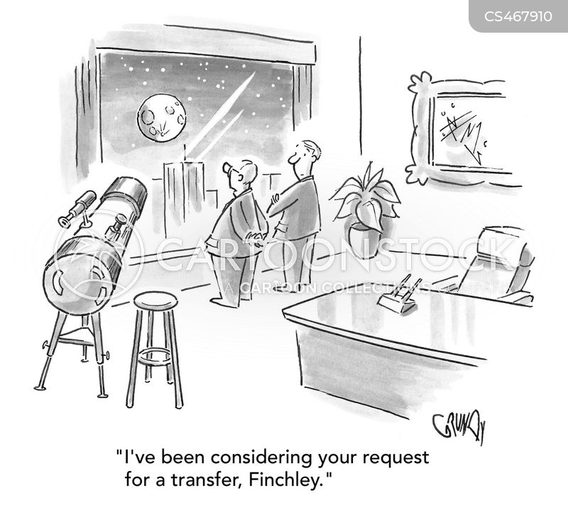 company transfer cartoon