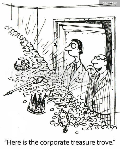 treasure room cartoon