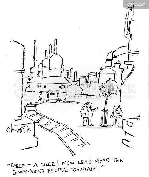 environmental friendliness cartoon