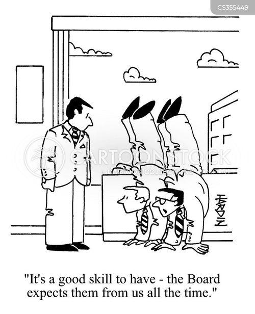 handstands cartoon