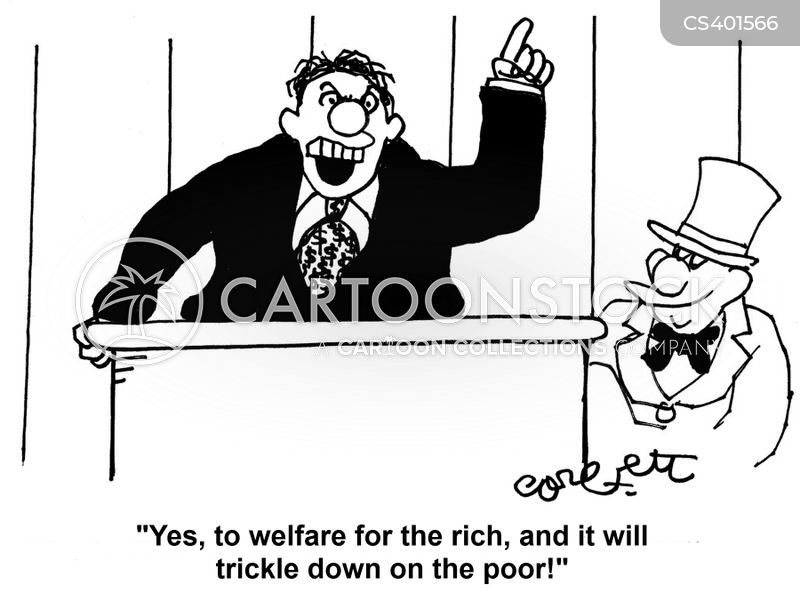 trickle-down economy cartoon