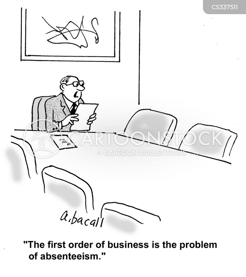 absenteeism cartoon
