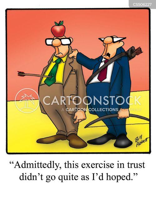 team-building exercises cartoon