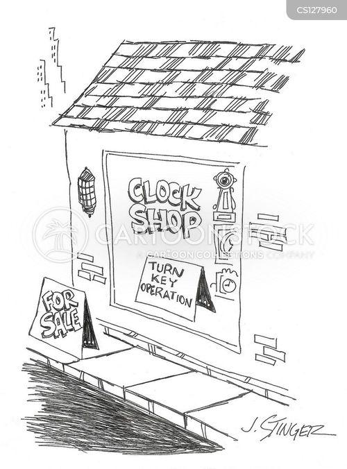 clock store cartoon