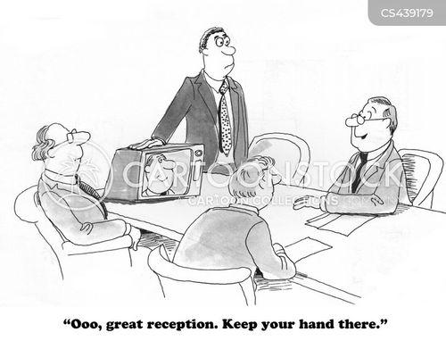 tv reception cartoon