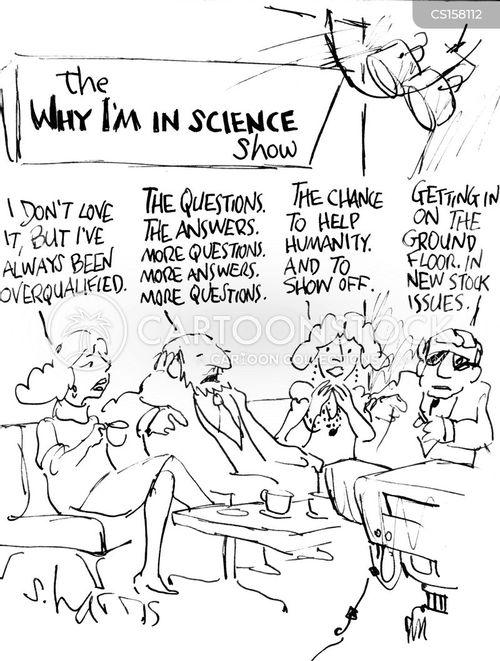 tv interview cartoon