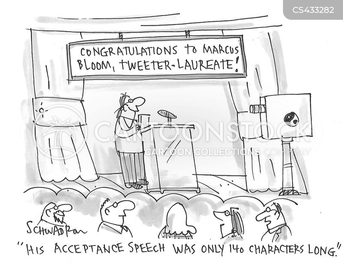 acceptance speech cartoon