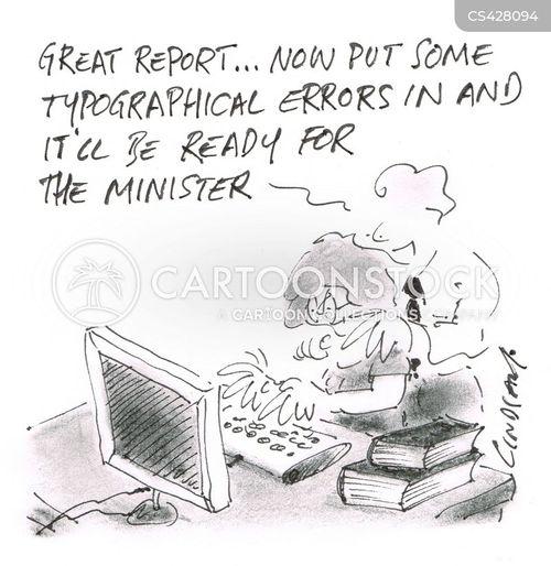 typographical errors cartoon