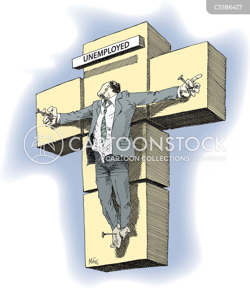 crucifixion cartoon