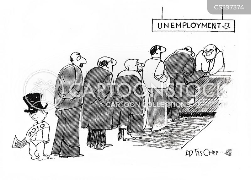 unemployment lines cartoon