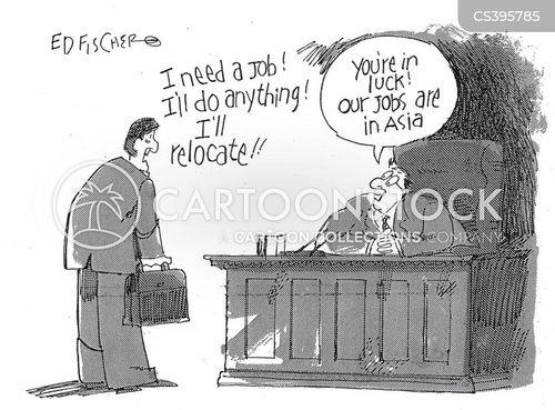 looking for work cartoon