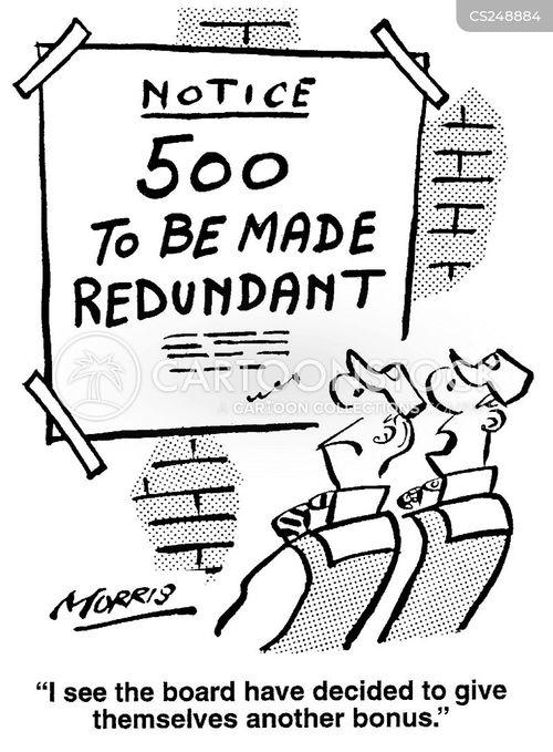 management cuts cartoon
