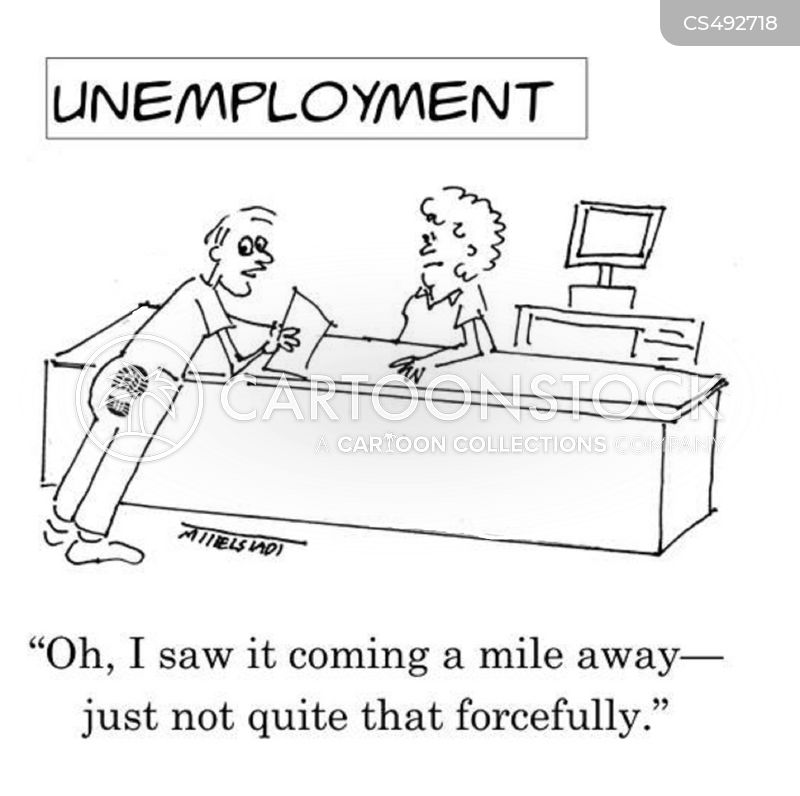 unemployment office cartoon