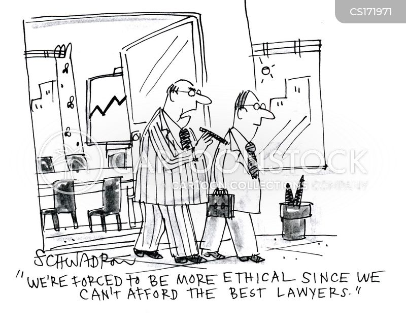 ethical business cartoon