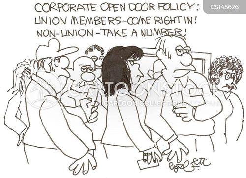 union worker cartoon