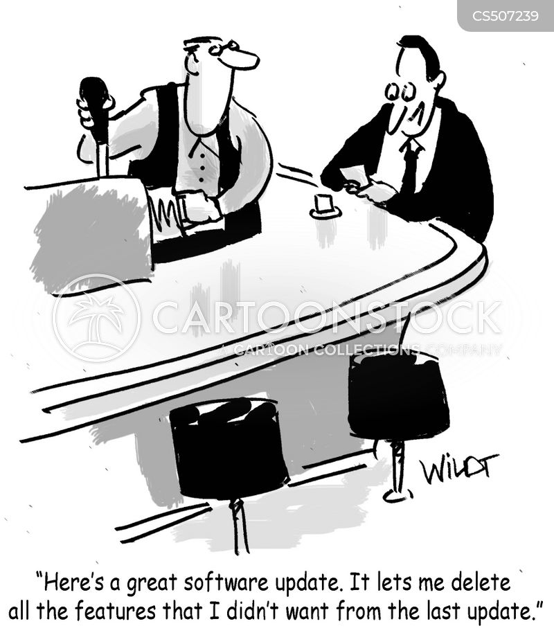 software updates cartoon