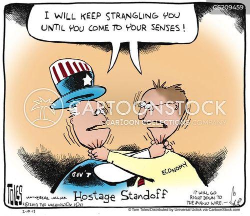 standoff cartoon
