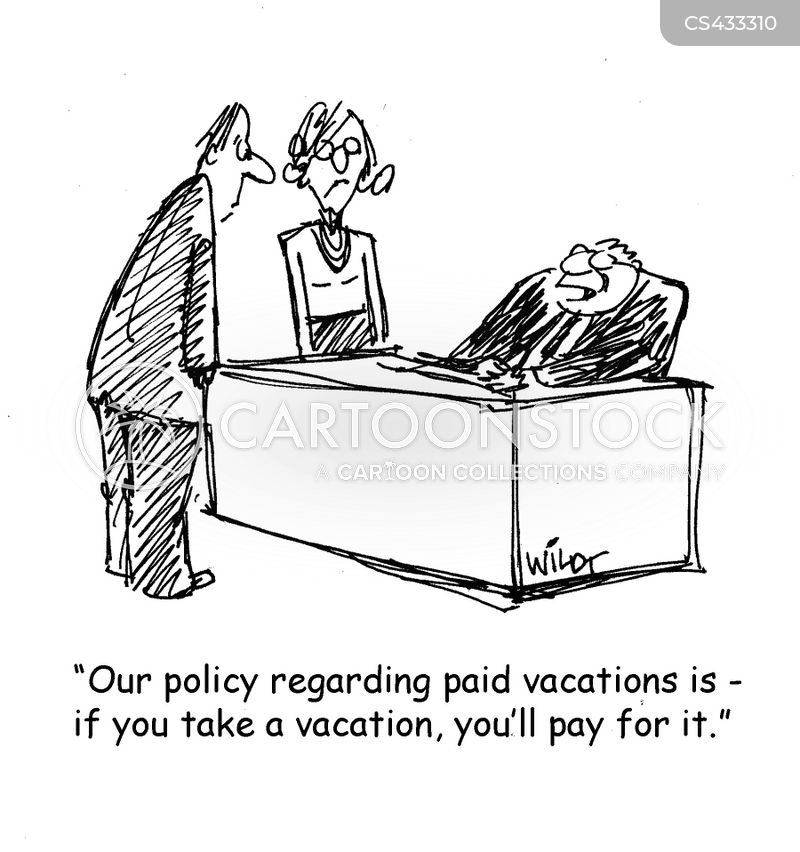 paid holiday cartoon