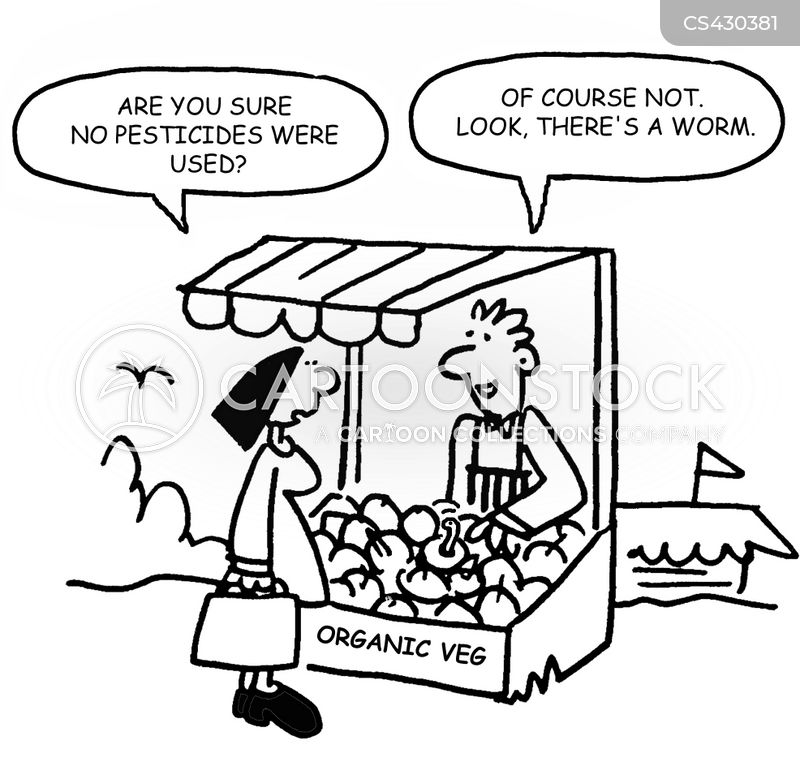 organic vegetables cartoon
