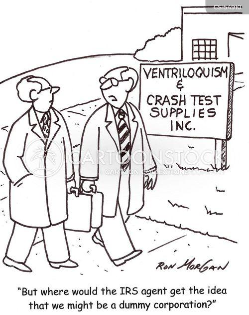 dummy corporation cartoon