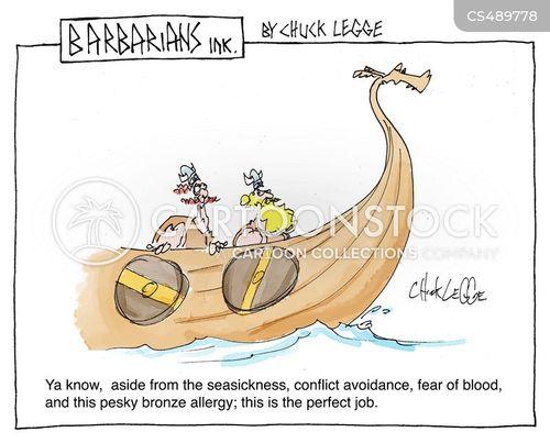 blood phobias cartoon