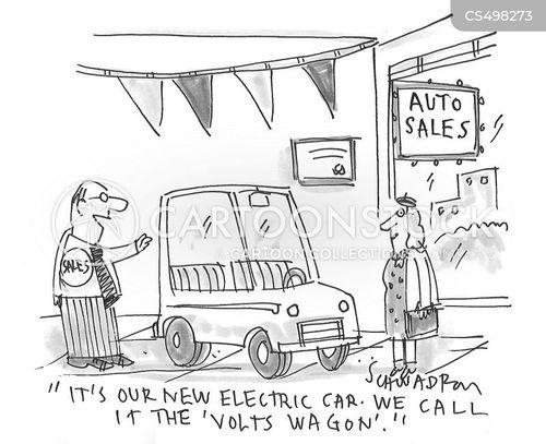 electrical cars cartoon