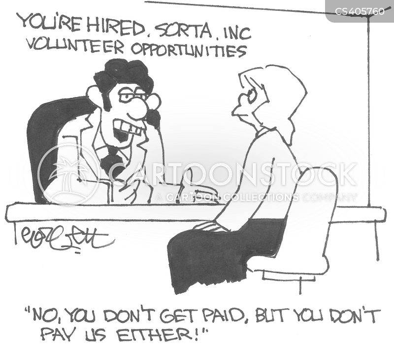 paid work cartoon