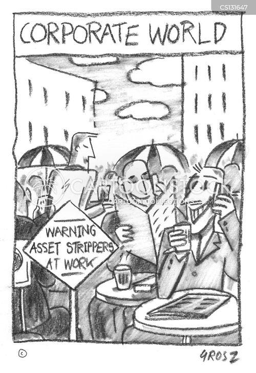 asset strippers cartoon