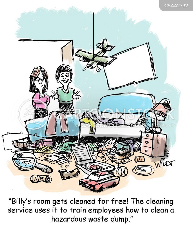 cleaning service cartoon