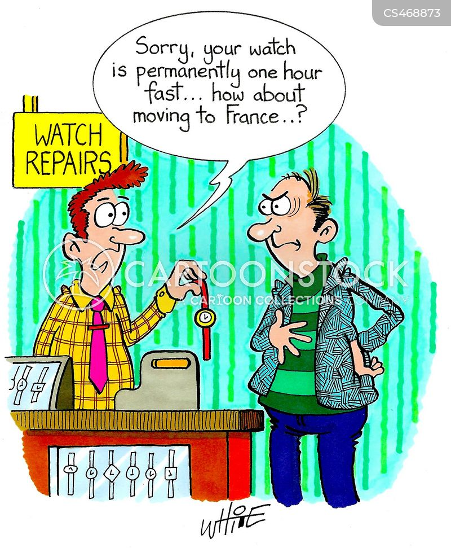 watch shops cartoon