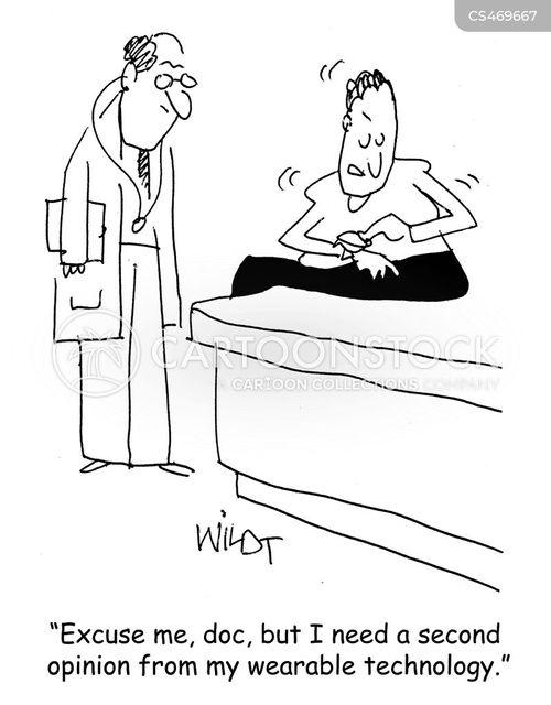 wearable technologies cartoon