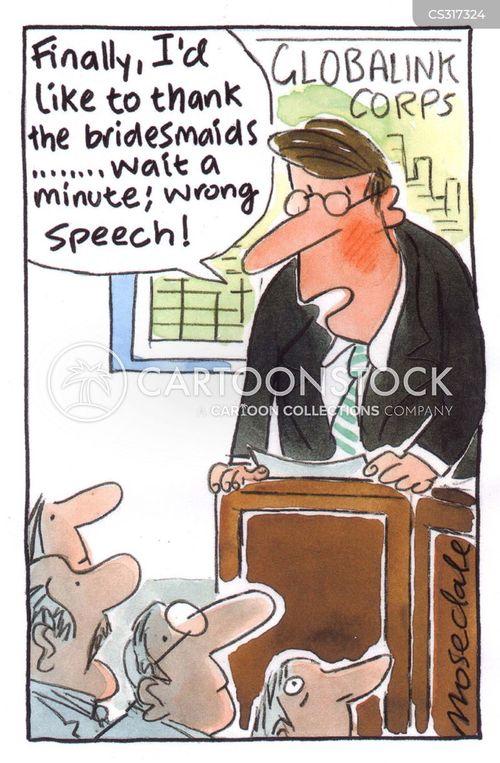 wedding speech cartoon