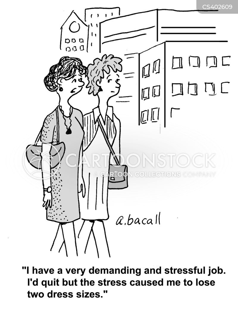 demanding job cartoon