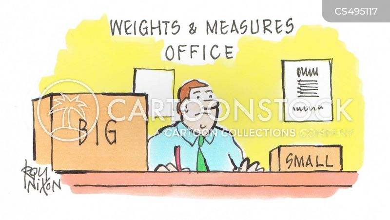 weights and measures cartoon
