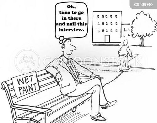 wet paint cartoon