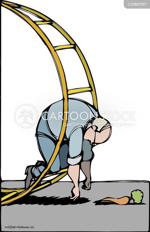 dangling cartoon