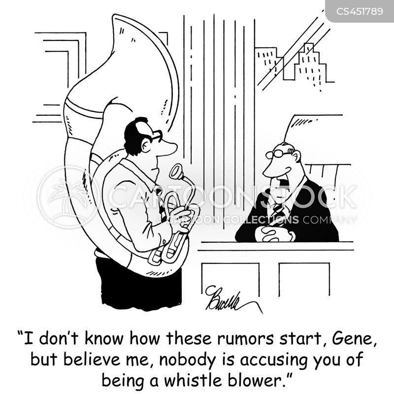 corporate whistle blower cartoon
