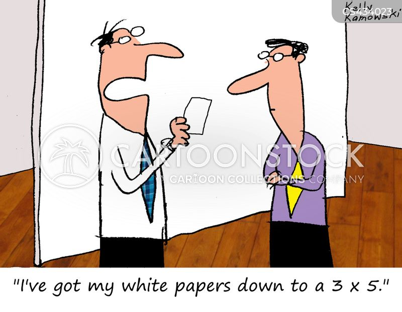 white paper cartoon