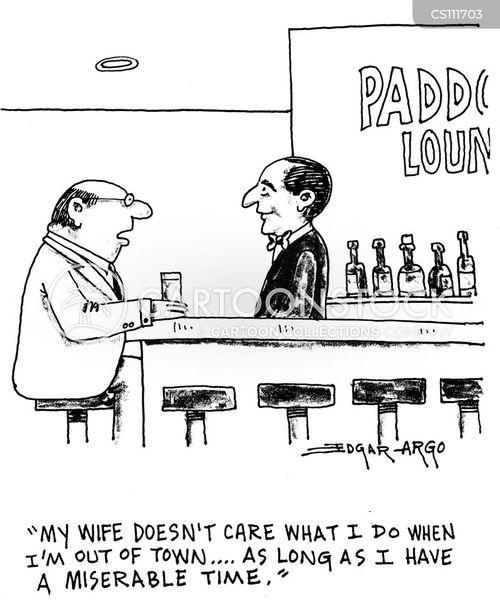 bar keep cartoon