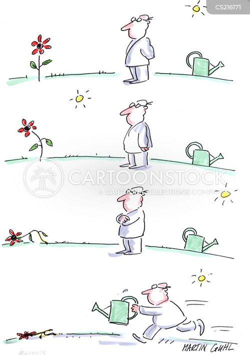 delayed reactions cartoon