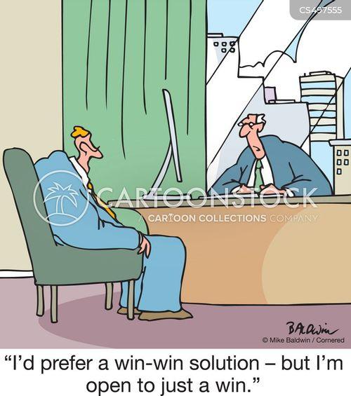 win-win cartoon