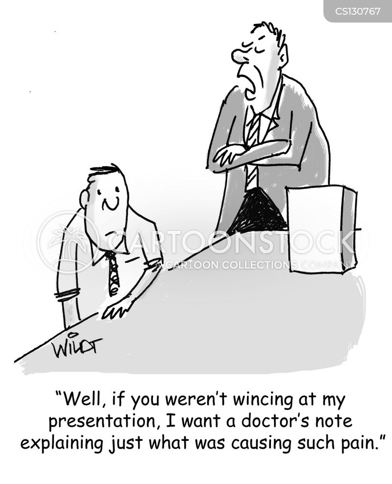 wincing cartoon