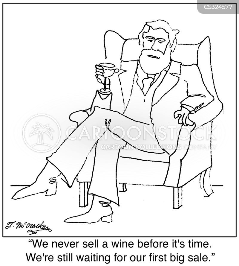 wine merchant cartoon