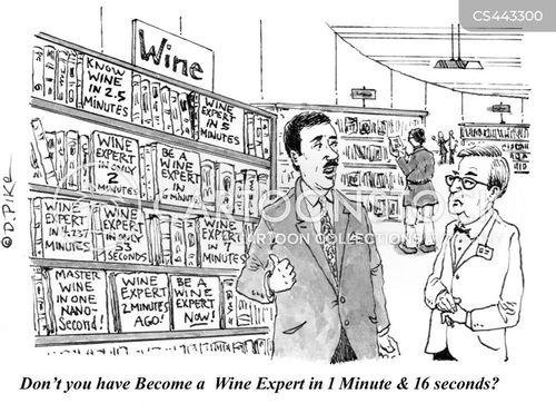 wine store cartoon