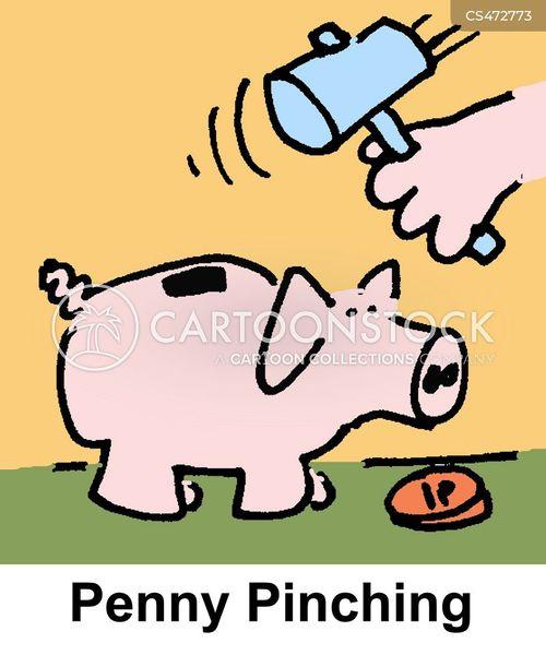 penny-pinching cartoon