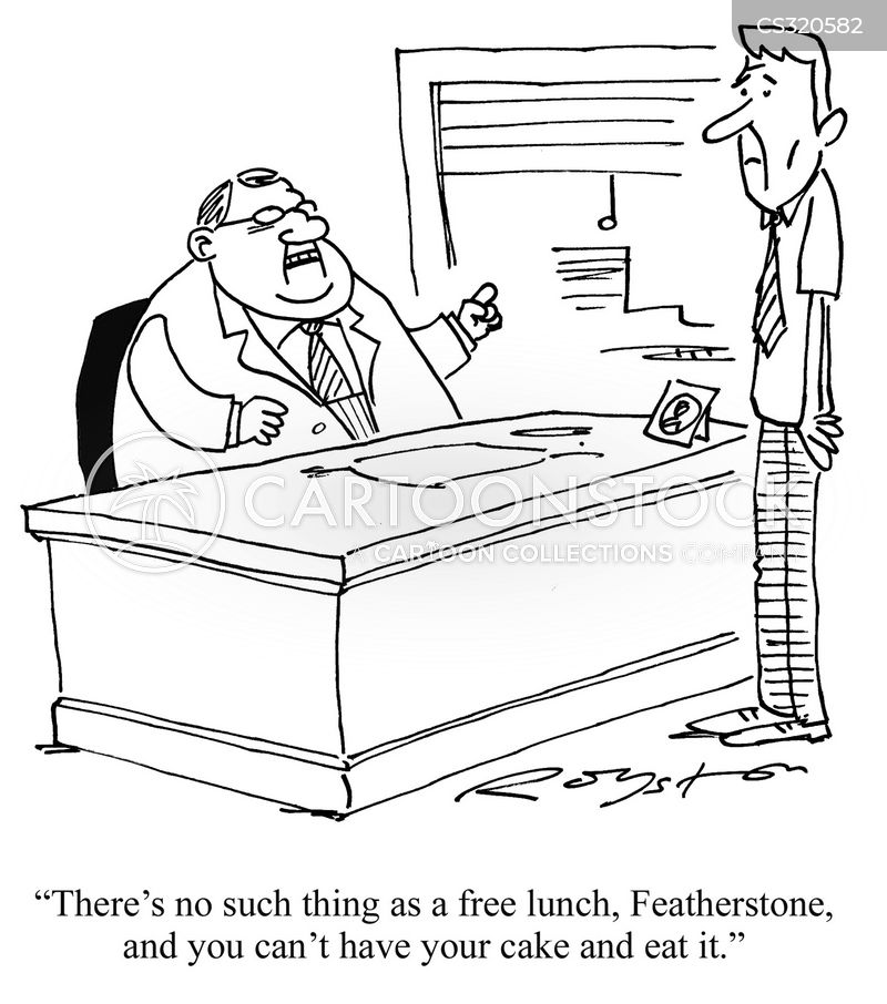 Image result for no free lunch cartoon