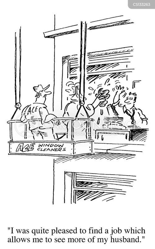 window cleaning cartoon
