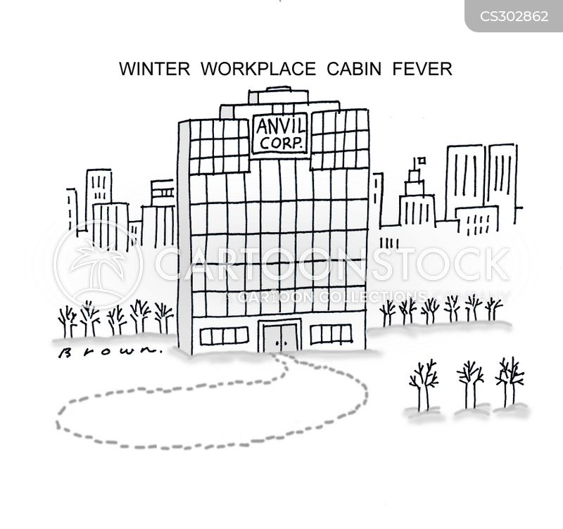 cabin fever cartoon
