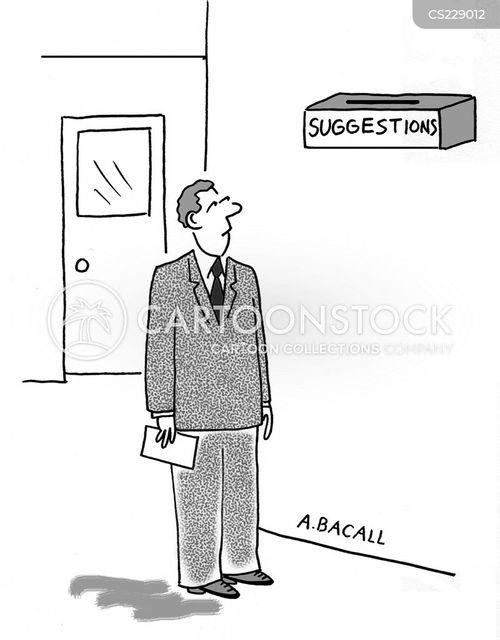 giving feedback cartoon